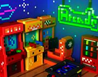 Arcade Room / 2016 3D pixel art