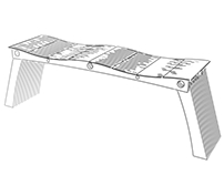 Concept Art For Simple Curved Top Bench