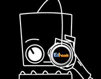 Edheads logo design