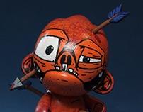 Ouchy! Custom micro Foomi vinyl toy.