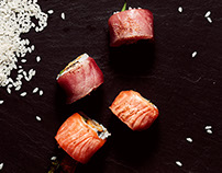Grilled Maki Sushi Editorial