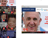 NYC Catholic Charities Help & Hope email redesign