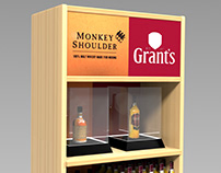 Display Whisky - Grants & Monkey