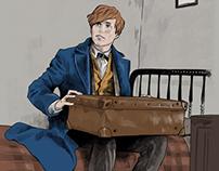 Newt Scamander - Fantastic beast character sketch