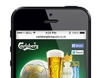 Carlsberg Fan Squad App - Mobile Website