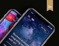 Waltonchain main page design concept
