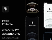 Free iPhone 12 Pro 3D Mockups