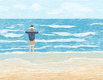 Ba ơi biển chạy! ( Papa! the sea is running)