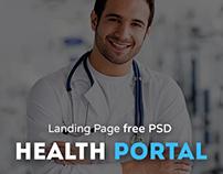 Health portal - Landing page