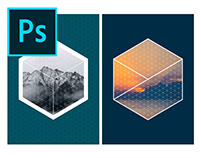 Isometric Image Effects Photoshop Template