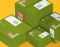 25+ Useful Mailing Box / Bag Packaging Mockups