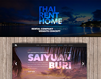 Rental company in Thailand website concept