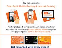 Go Cashless Mailer for Bank of Baroda