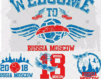 russia soccer graphic design vector art