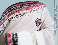 Gulzaar Poetry on Handloom Saree, Likhawat