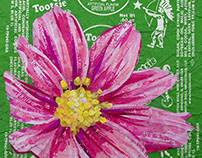 Pink Flower - Created with Recycled Material