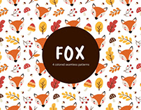 Fox Vector Free Seamless Pattern