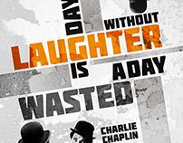 Constructivist Poster - Charlie Chaplin Quote