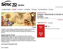 Teaching collage/Oficina de colagem-Sesc