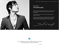 About Me Page - Minimalist WordPress Theme
