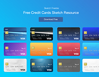 Free Credit Card Vector for Sketch App