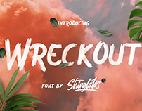 Wreckout | Decorative Brush Font