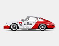 Marlboro Tobacco style 1968 Porsche 911.