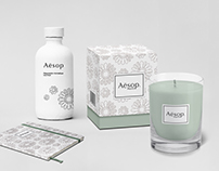 Pattern and product design. Aesop
