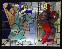 Stained-glass windows for lutheran church