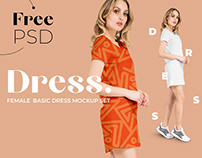 Free Basic Dress Mockup for Fabric Designers