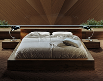 3D MODEL Ethnicraft OAK MADRA BED