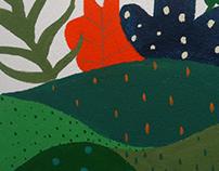 Parede Ilustrada- Floresta Paraense