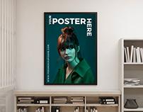 Free Creative Interior Poster Mockup For Designers