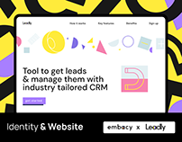 Leadly. Identity & website