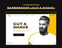 Landing Page for barbershop «CUT & SHAVE»