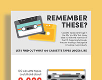 100 CASSETTE TAPES