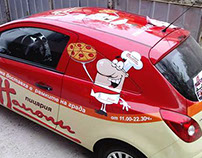Branded car Pizzeria Napoli