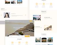 hotels and holidays website concept