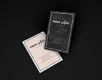 Free Floating Brand Business Card Mockup PSD