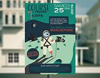 Affiche : course des frères de la côte