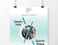 Dakota Suite & Quentin Sirjacq concert // poster