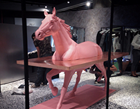Horse sculpture for Irada shop at Emquartier Bangkok