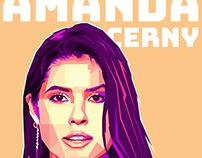 Social media Star amanda cerny wpap art portraits