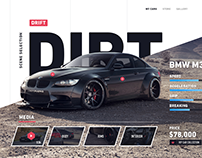 Car concept website