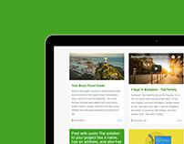 Tablet View - Traveler WordPress Theme