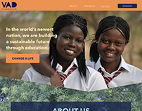 The VAD Foundation One Page Website