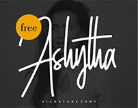 Free Signature Font - Ashytha