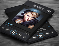 Music Player Style Business Card Template (Freebie)