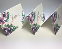 Place cards, custom made