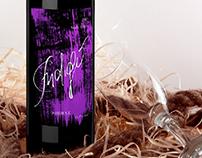 Indigo//Wine bottle design